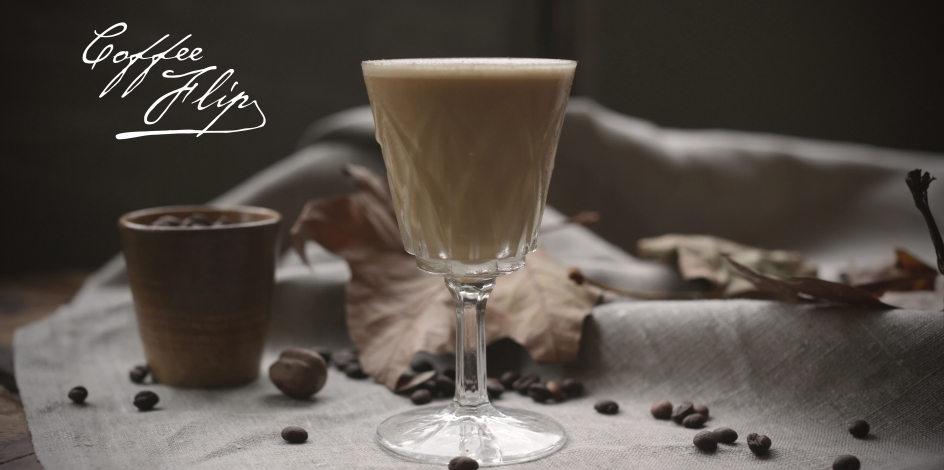 A glass of Absinthe Coffee Flip by Pernod