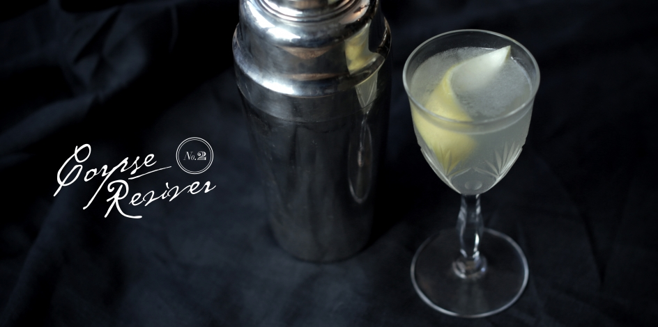Corpse Reviver No.2 with cocktail shaker