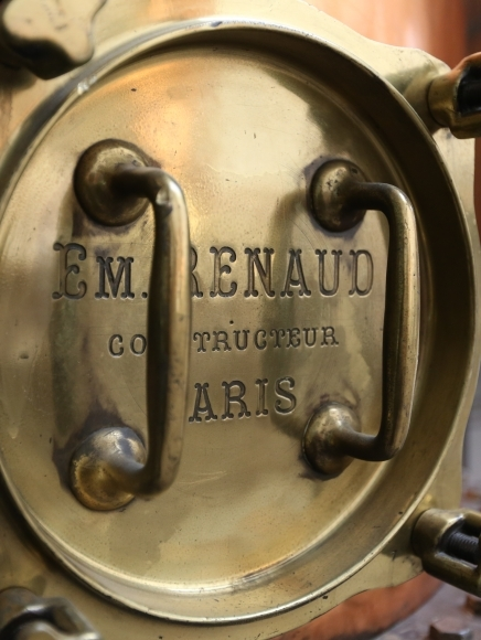 copper still in the Pernod Absinthe distillery in Thuir